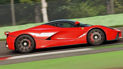 Photograph - La Ferrari, Monza - 16 by Andrea Mazzocchetti
