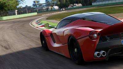 Photograph - La Ferrari, Monza - 17 by Andrea Mazzocchetti