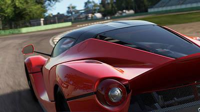 Photograph - La Ferrari, Monza - 19 by Andrea Mazzocchetti