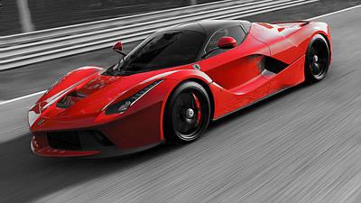 Photograph - La Ferrari, Monza - 20 by Andrea Mazzocchetti