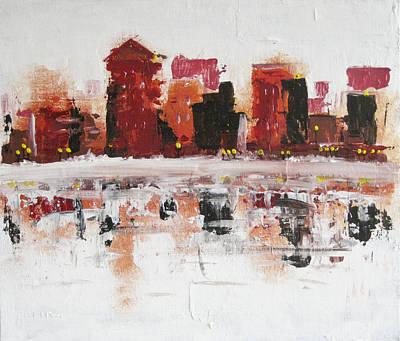 Montreal Cityscapes Painting - La Fin De L'automne A Montreal by Jeff Kim