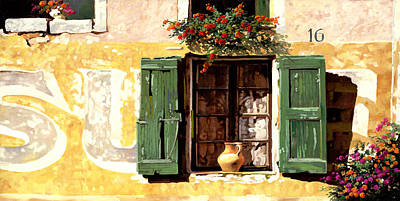 la finestra di Sue Print by Guido Borelli