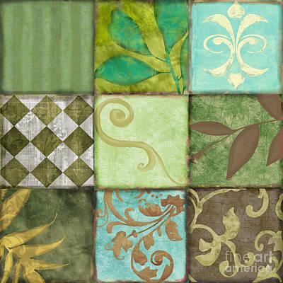 Checkerboard Painting - La Fleurs De La Terre II by Mindy Sommers