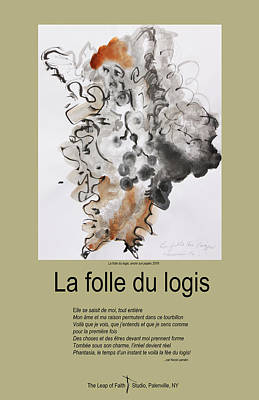 Mixed Media - La Folle Du Logis by Nicole Lemelin