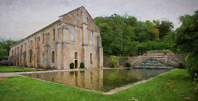 Digital Art - La Forge - Abbaye De Fontenay - France by Jean-Pierre Ducondi