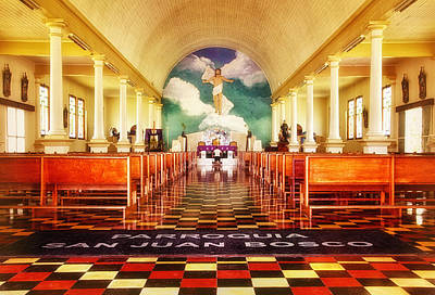 Photograph - La Fortuna Church Interior by Carolyn Derstine
