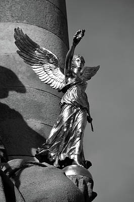 Photograph - La France De Louis Xiv Statue On Pont Alexandre IIi Paris France Black And White by Shawn O'Brien