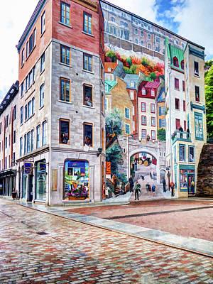 Photograph - La Fresque Des Quebecois by Dave Thompsen