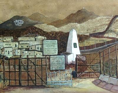 Wall Art - Mixed Media - La Fronera Hoy The Border Today by Candy Mayer