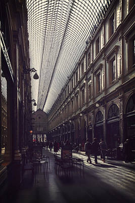 Stylish Photograph - Les Galeries Brussels by Carol Japp