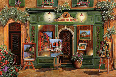 Painting Rights Managed Images - La Galleria Del Corvo Royalty-Free Image by Guido Borelli