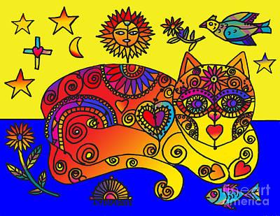 Drawing - La Gata Fifi by Lydia L Kramer
