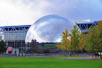 Photograph - La Geode In The Parc De La Villette In Paris, France by Richard Rosenshein