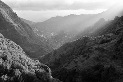 Photograph - La Gomera Valley Canary Islands Monochrome by Marek Stepan