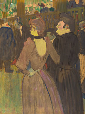 Bar Painting - La Goulue And Her Sister by Henri de Toulouse-Lautrec