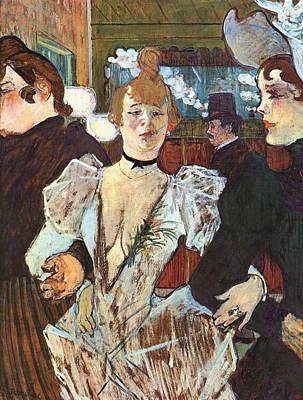 Club Scene Painting - La Goulue Arriving At The Moulin Rouge by Henri de Toulouse-Lautrec