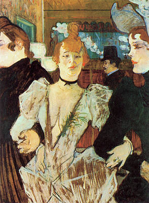 Photograph - La Goulue Arriving At The Moulin Rouge With Two Women by Toulouse Lautrec