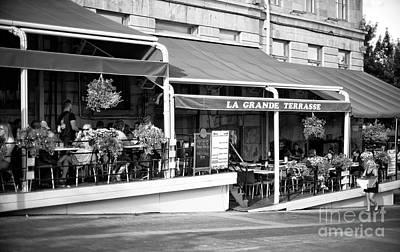 Montreal Restaurants Photograph - La Grand Terrasse by John Rizzuto