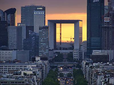 Photograph - La Grande Arche - Paris by Nikolyn McDonald