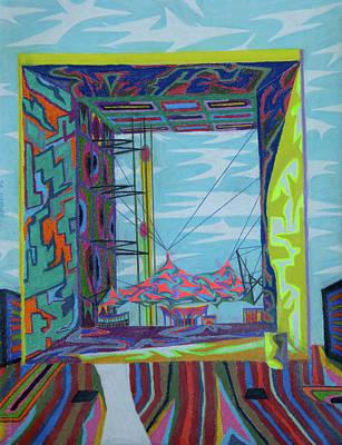 Painting - La Grande Arche by Robert SORENSEN