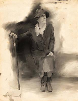 La Grande Dame Art Print by H James Hoff