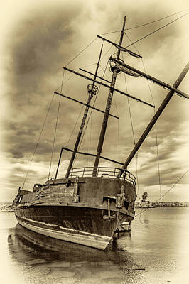 Jordan Photograph - La Grande Hermine 2 - Sepia by Steve Harrington