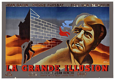Photograph - La Grande Illusion Theatrical Poster 1937 Color Added 2016 by David Lee Guss