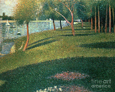Crt Wall Art - Painting - La Grande Jatte by Georges Pierre Seurat