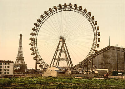 Photograph - La Grande Roue De Paris And Eiffel Tower by Richard Reeve