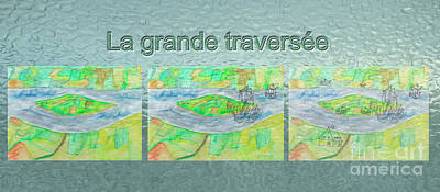 New Training Painting - La Grande Traversee Mug Shot by Dominique Fortier
