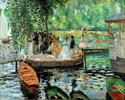 Grenouillere Painting - La Grenouillere By Auguste Renoir 1869 by Movie Poster Prints