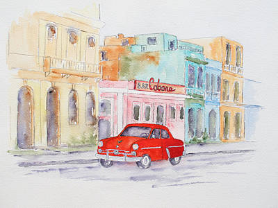 Painting - La Habana Side Street by Patricia Beebe
