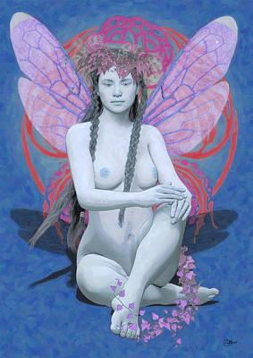Hada Painting - La Hada Azul by Quim Abella
