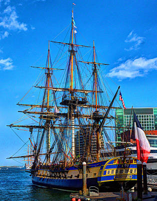 Photograph - La Hermione 001 by Jeff Stallard