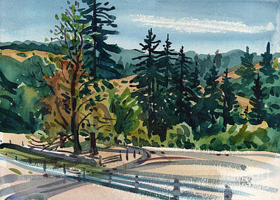 Redwoods Painting - La Honda Ranch by Donald Maier