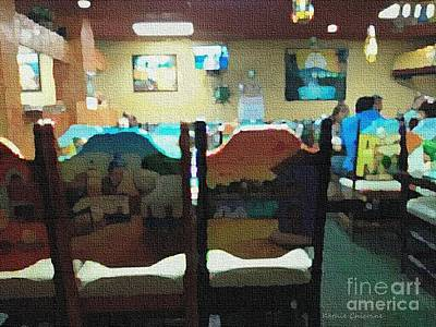 Digital Art - La Hora De Comida by Kathie Chicoine