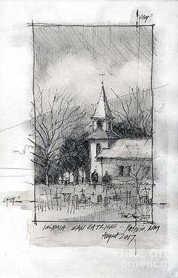 Painting - La Iglesia De San Patricio Sketch by Tim Oliver