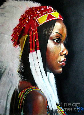 Painting - La India by Yxia Olivares
