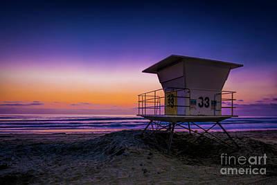 Photograph - La Jolla Beach Sunset by Ken Johnson