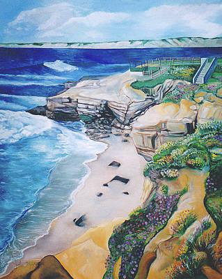 Painting - La Jolla Coast by John Keaton