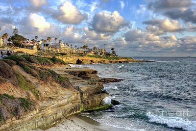 Art Print featuring the photograph La Jolla Coastline by Eddie Yerkish