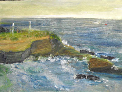 Painting - La Jolla Cove 002 by Jeremy McKay
