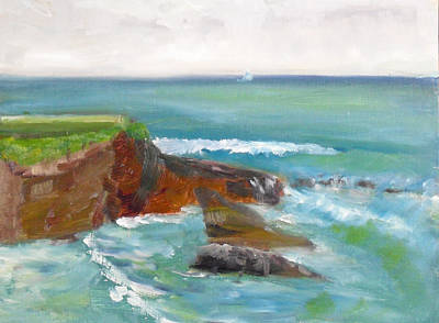 Painting - La Jolla Cove 003 by Jeremy McKay