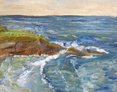 Painting - La Jolla Cove 004 by Jeremy McKay