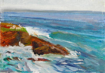 Painting - La Jolla Cove 008 by Jeremy McKay