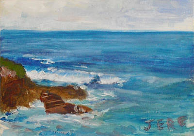 Painting - La Jolla Cove 009 by Jeremy McKay