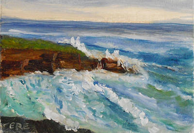Painting - La Jolla Cove 010 by Jeremy McKay