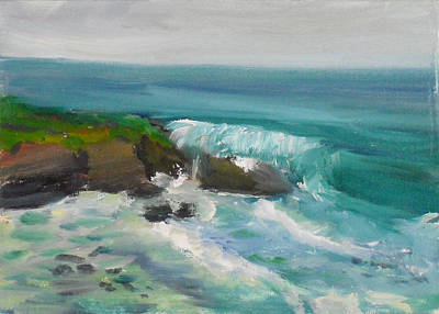 Painting - La Jolla Cove 015 by Jeremy McKay