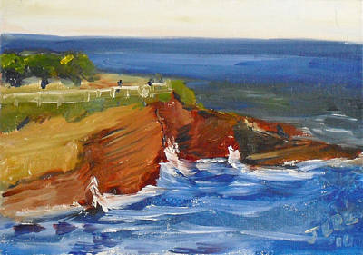 Painting - La Jolla Cove 017 by Jeremy McKay