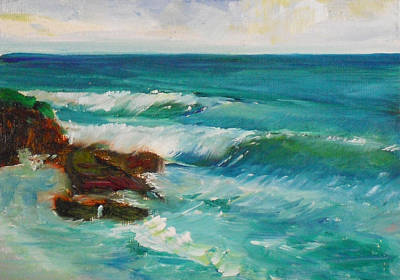 Painting - La Jolla Cove 027 by Jeremy McKay